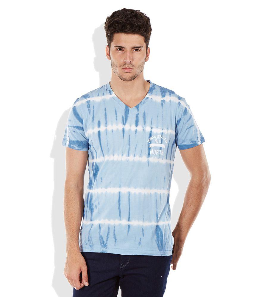 Lee Blue V-Neck T Shirt