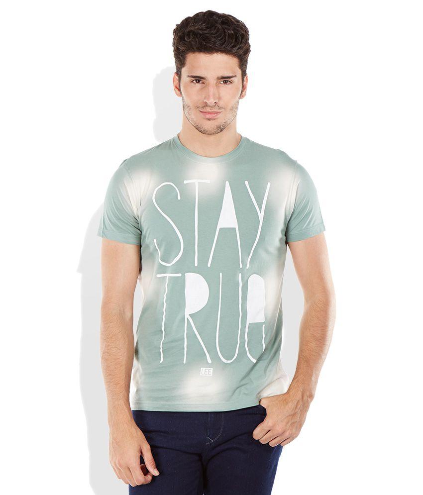 Lee Green Round Neck T Shirt
