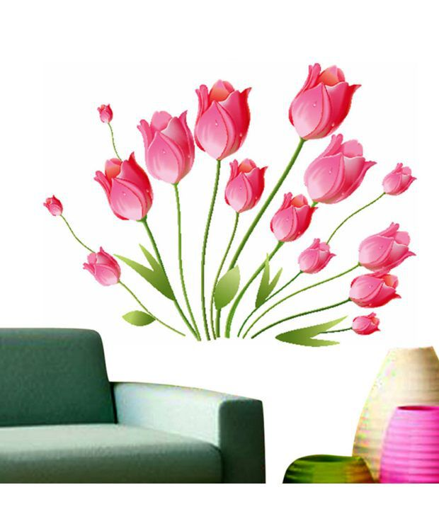 HOMETALES flowers & trees Sticker ( 100 cm x 100 cm)