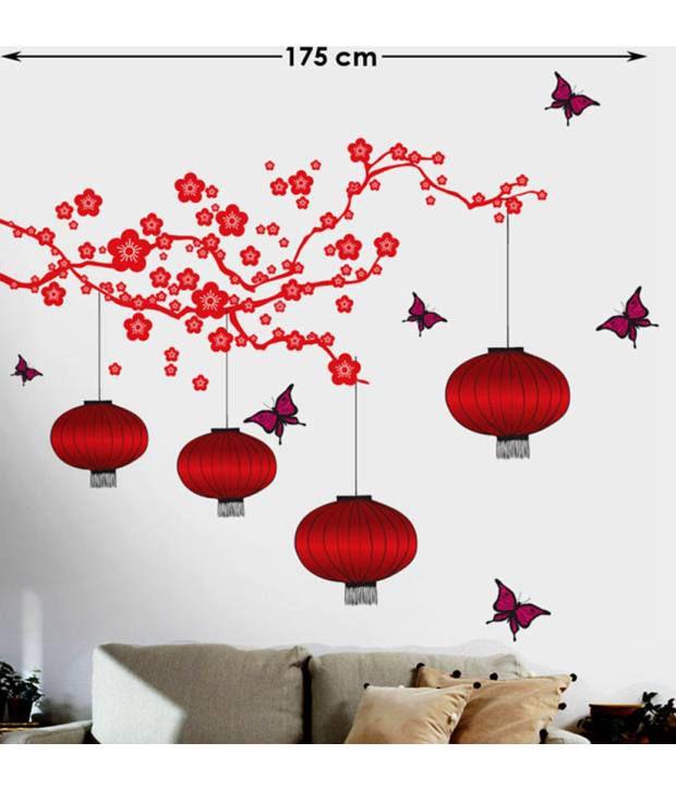 ... StickersKart Living Room PVC Red Wall Stickers ... Part 60