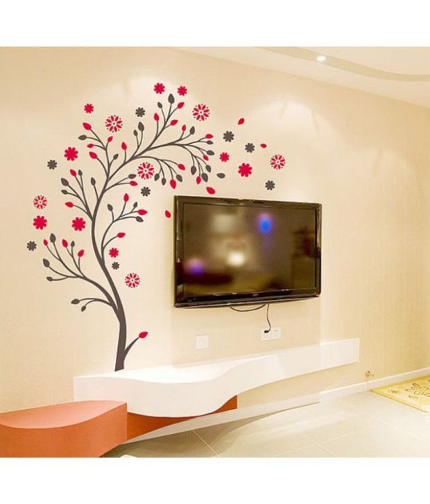 stickerskart wall stickers beautiful magic tree with flowers 7156