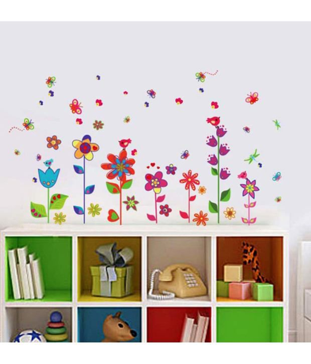 ... StickersKart Wall Stickers Border Design Colorful Fun Flowers 9009 ... Part 95