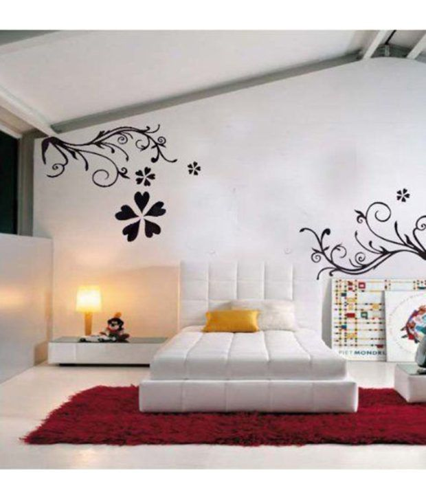 ... StickersKart Wall Stickers Wall Decals Bedroom Design Art 7043 (60x90  Cms) ...