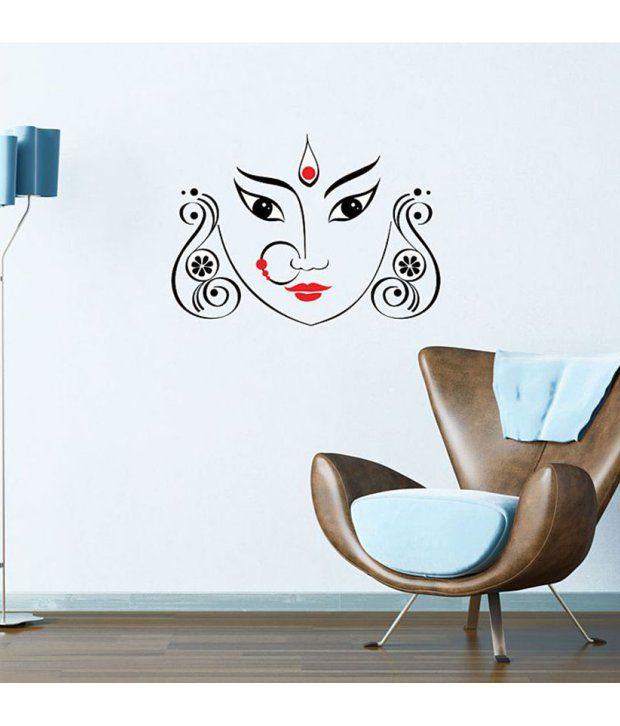 StickersKart Wall Stickers Maa Durga 5716 (50x70 cms ...