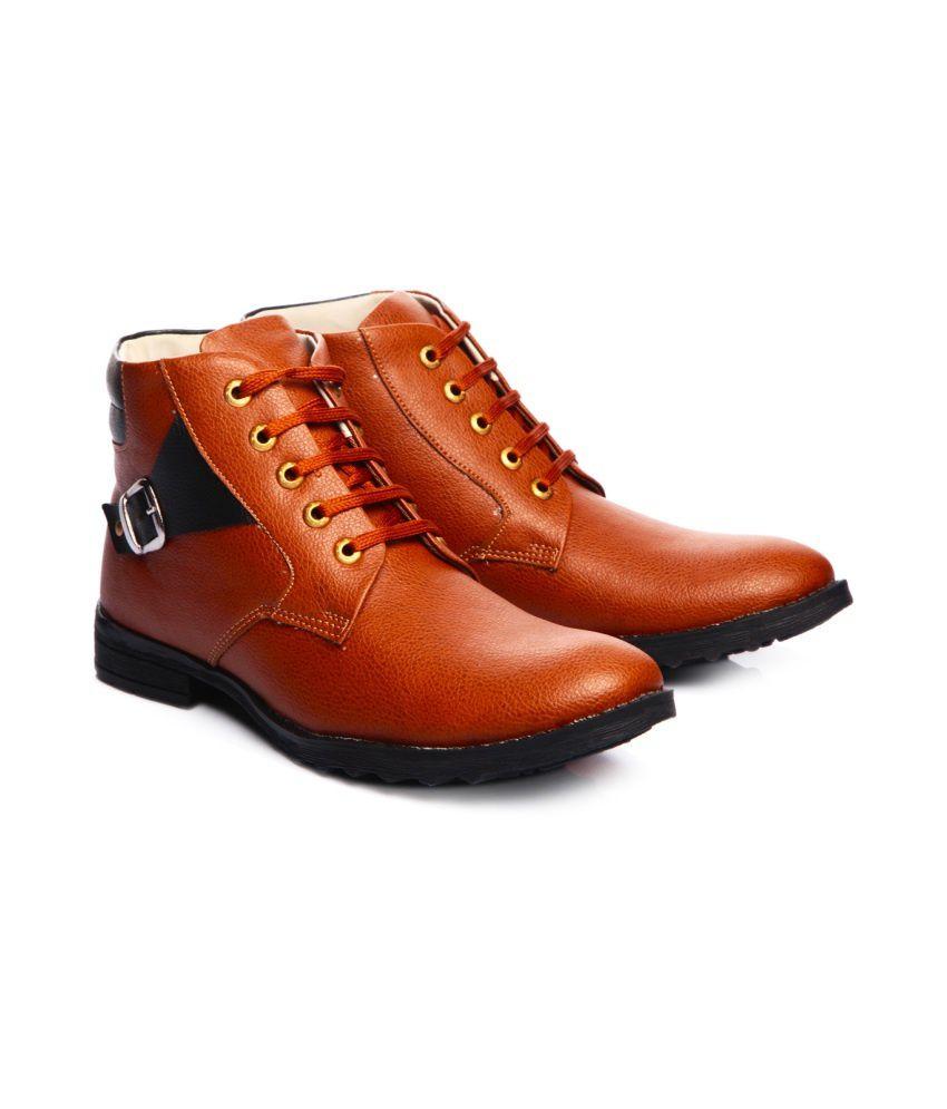 d7fa19b644c72 Shoe Island TAN Ankle Length Shoes Shoe Island TAN Ankle Length Shoes ...