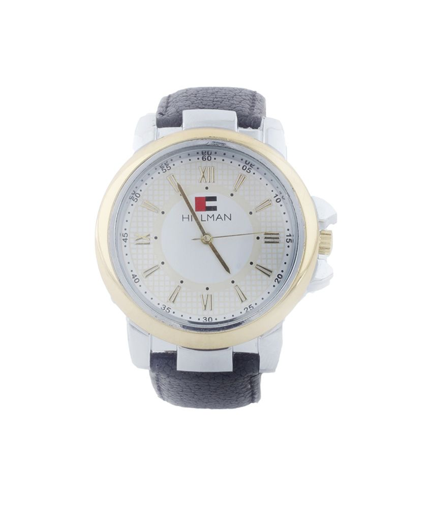 Hillman White Analog Leather Casual Wear Watch
