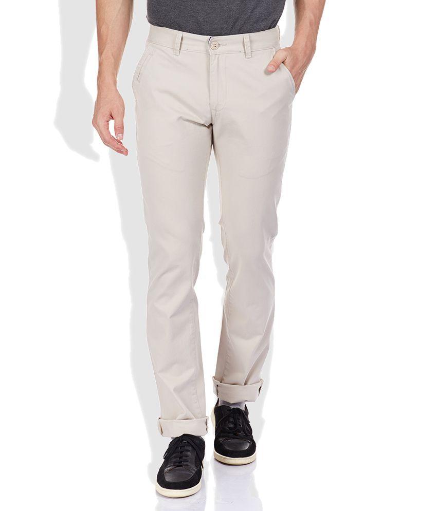 Proline Tan Slim Fit Trousers