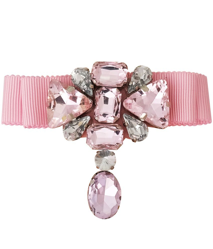 Super Drool Pink Alloy Crystal Bow Brooch