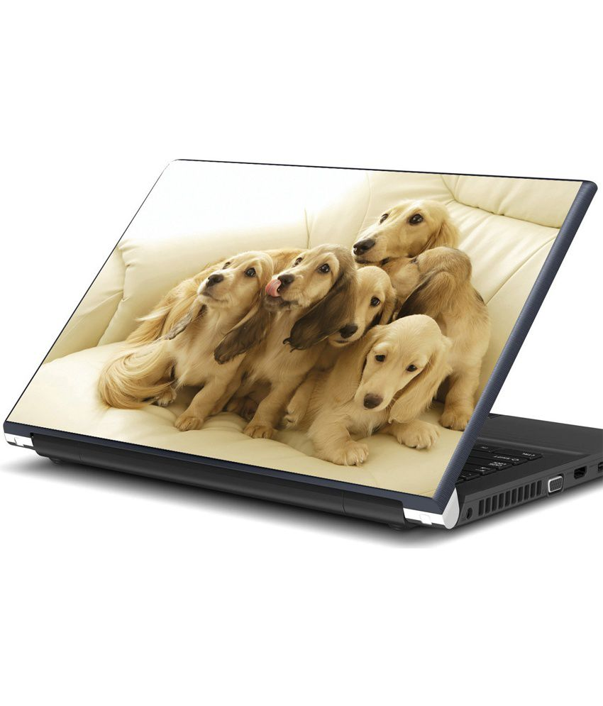 Artifa Dog Family On Couch Laptop Skin