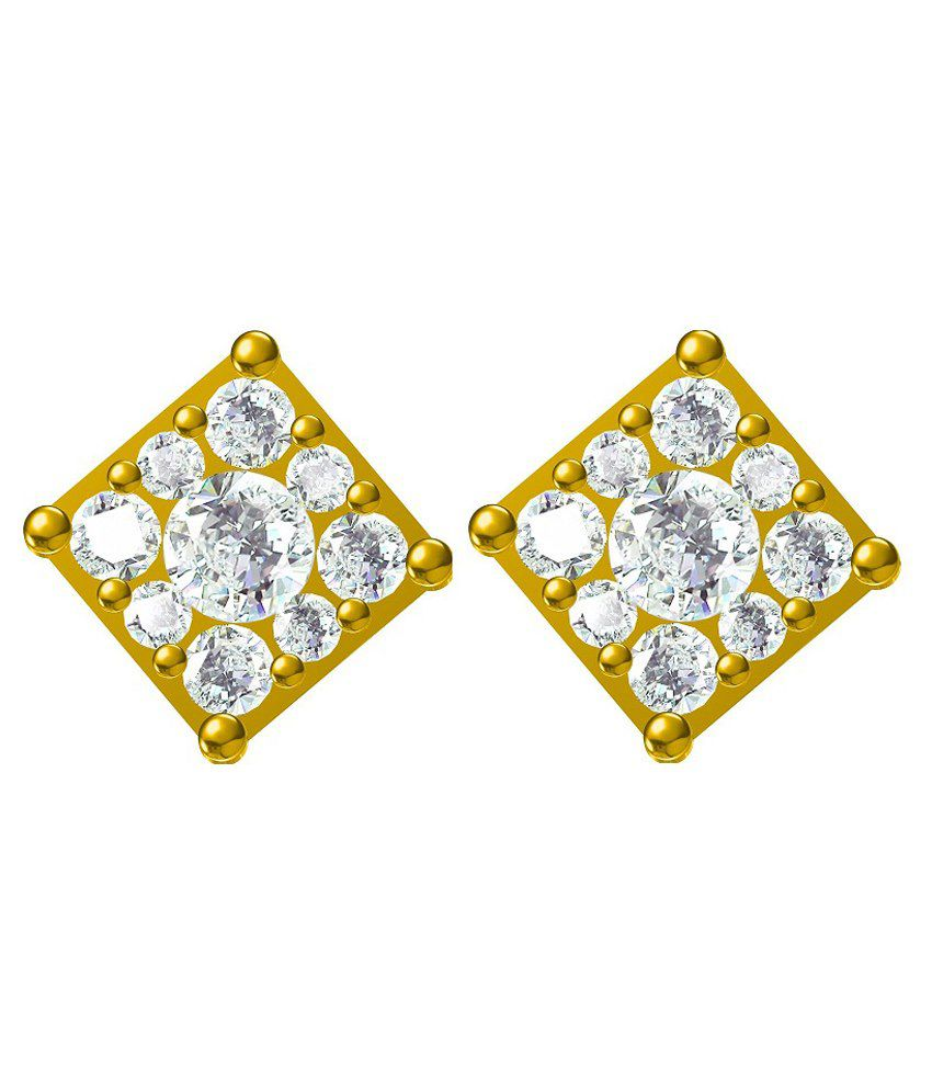 G V Jewels 18Kt Gold Stud Earrings