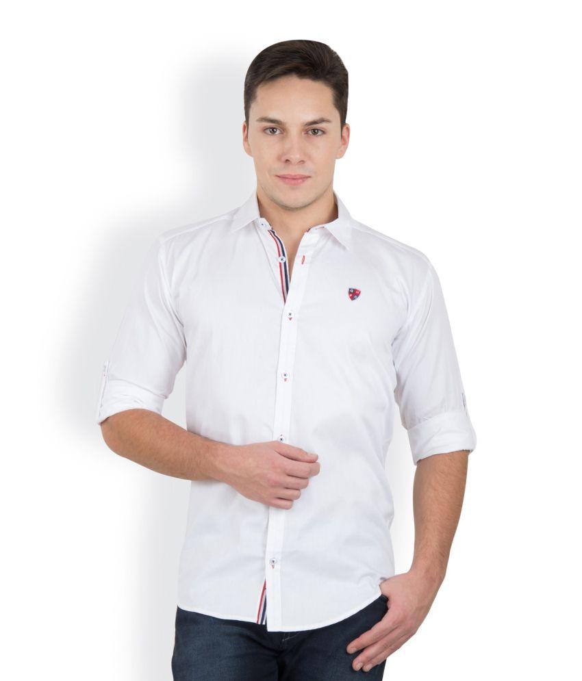 GHPC White Cotton Shirt For Men - Buy GHPC White Cotton Shirt For ...