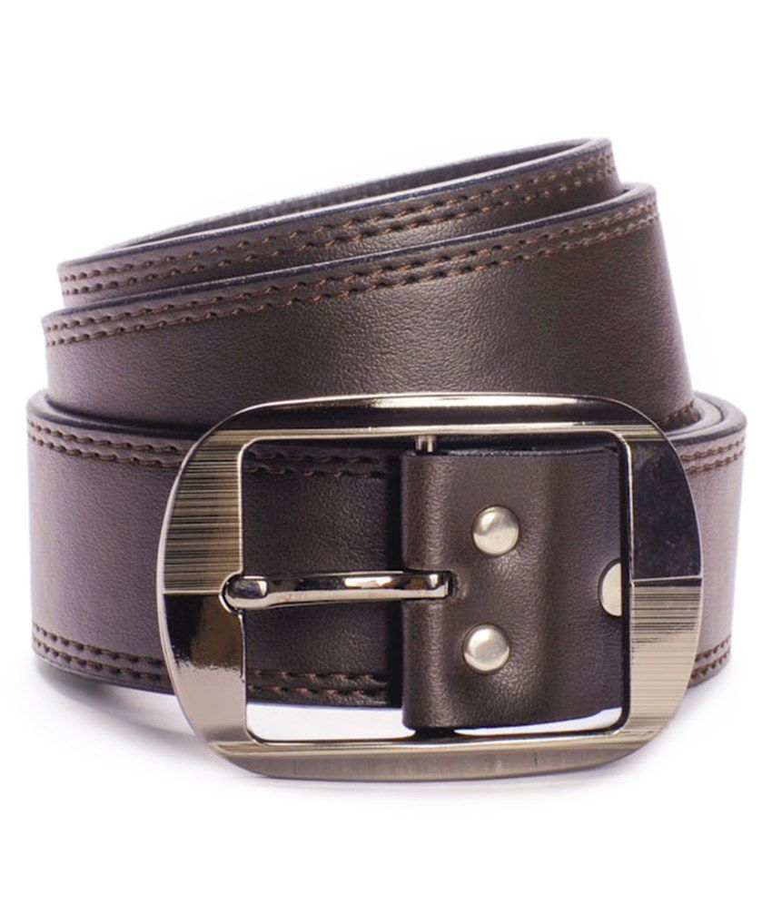Tsx Brown Pin Buckle Non Leather Belt