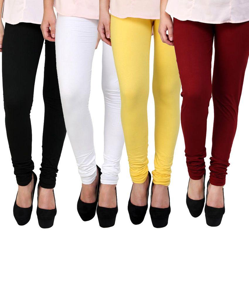 E'hiose Cotton Leggings Pack Of 4
