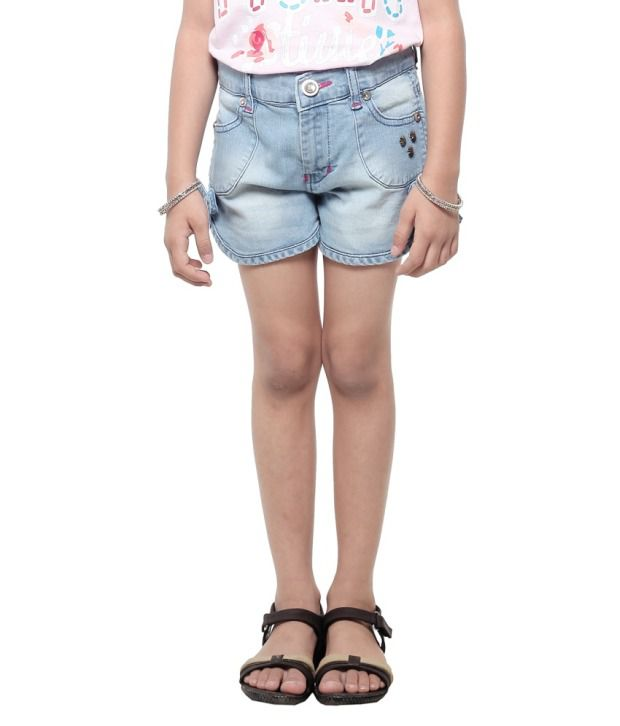 Stop By Shoppers Stop Blue Denim Shorts