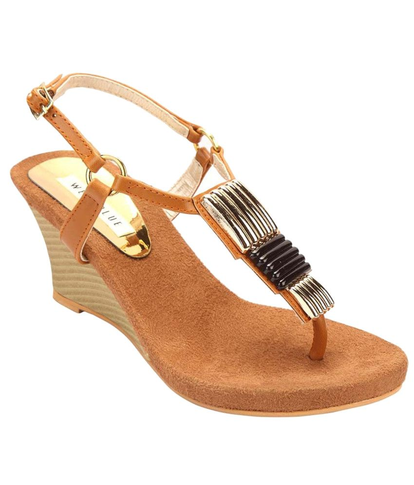 Wet Blue Sophisticated Tan Heeled Sandals