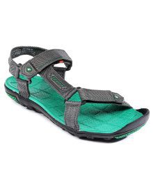 Sparx Grey & Green Floater Sandals