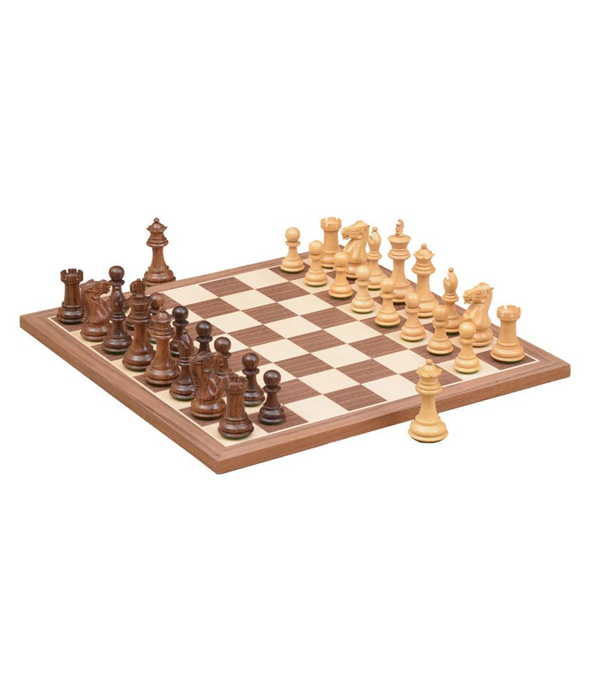 Chessbazaar Combo of Collector Series Chess Pieces & Walnut Maple Chessboard - 2.6 Inches King