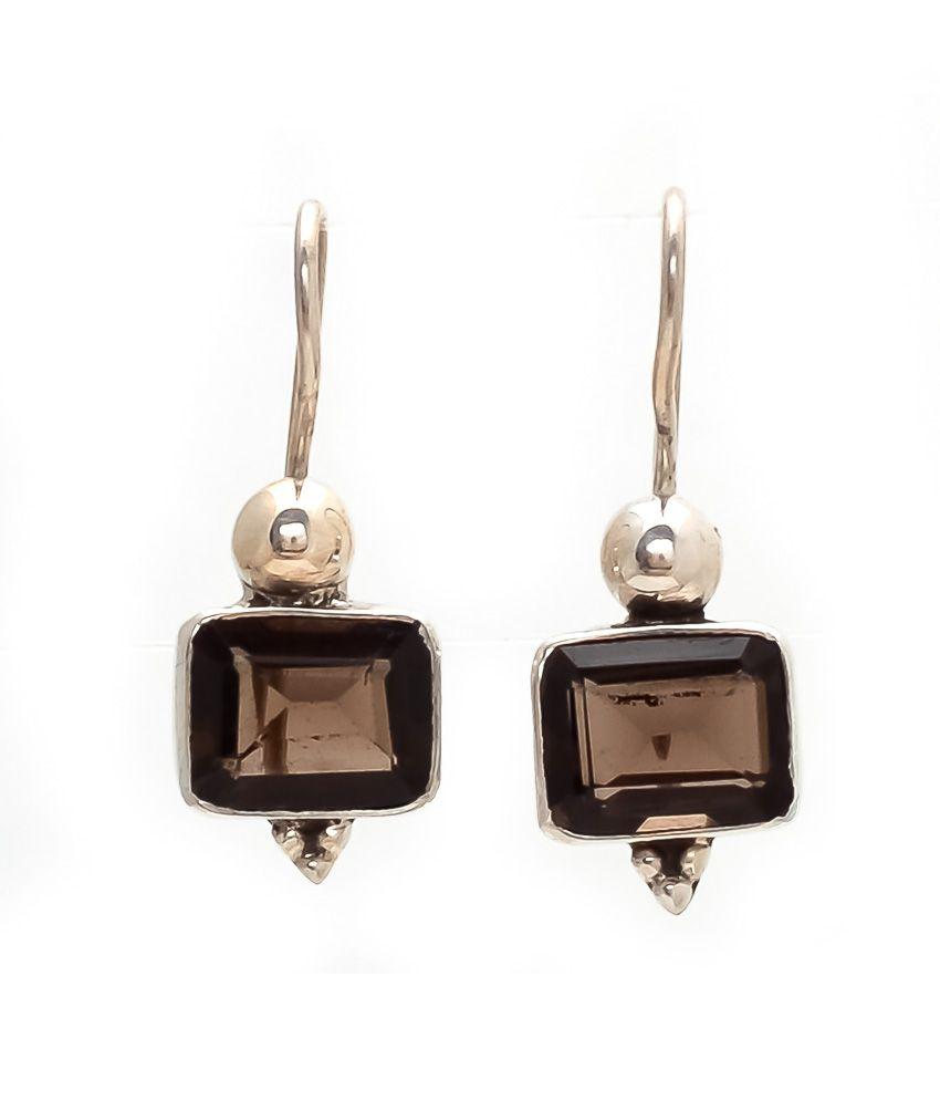 Devki Exports 92.5 Silver Hangings Drop Earrings