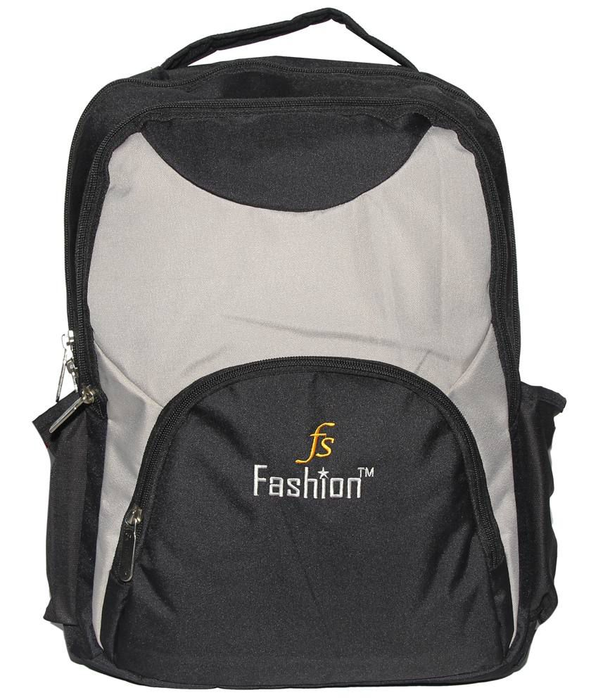 C Comfort Black & Gray Backpack