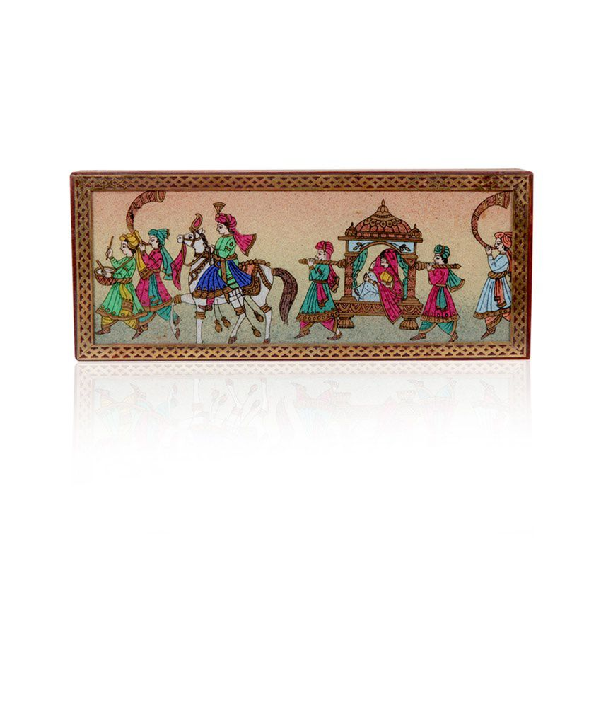 Rajwada Arts Wood Jewellery Box Brown