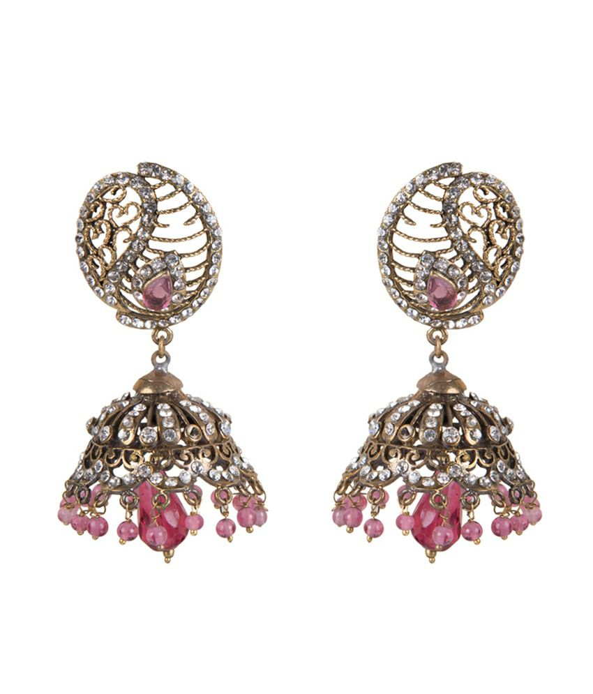 Taj Pearl Antique Yellow Victorian Earrings