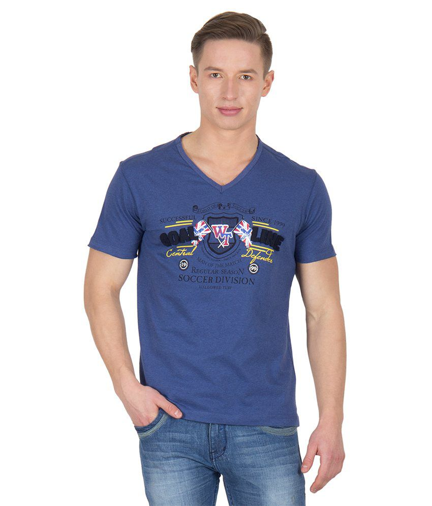 Wilkins & Tuscany 11689 Stylish Indigo Htr T-shirt