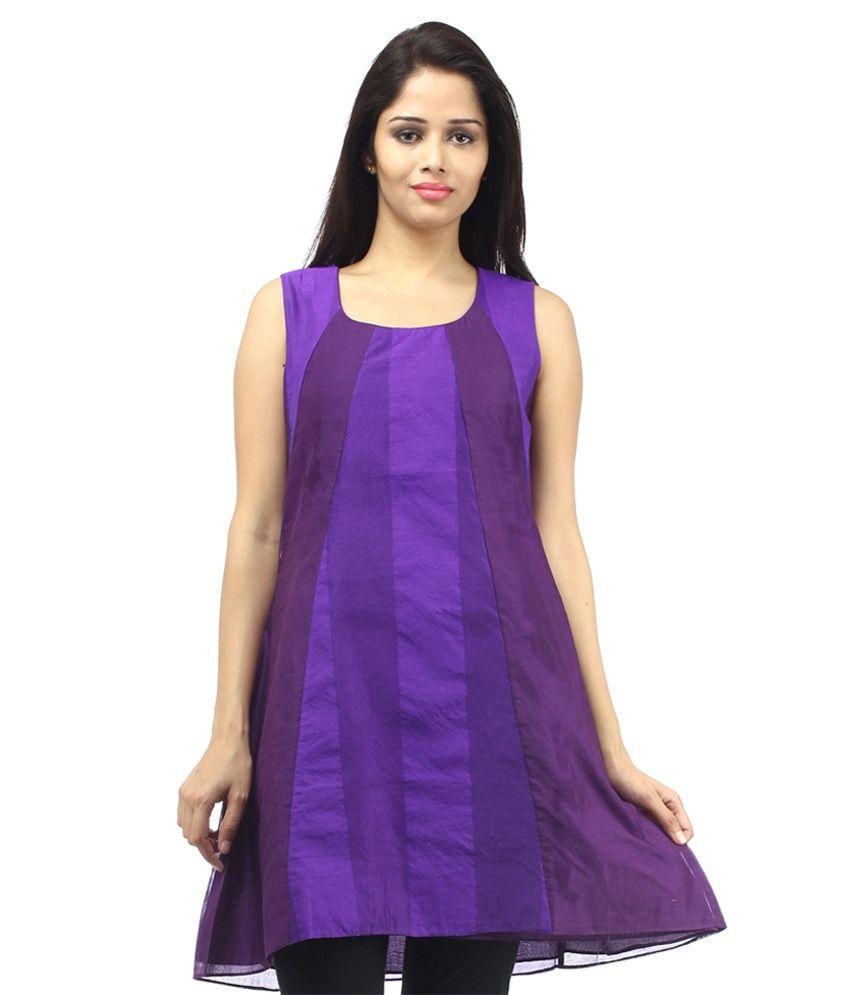 Ethna Purple Designer Kurti