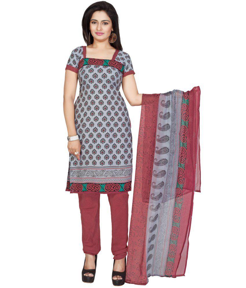 Jiya Art Crepe Regular Single Dress Material