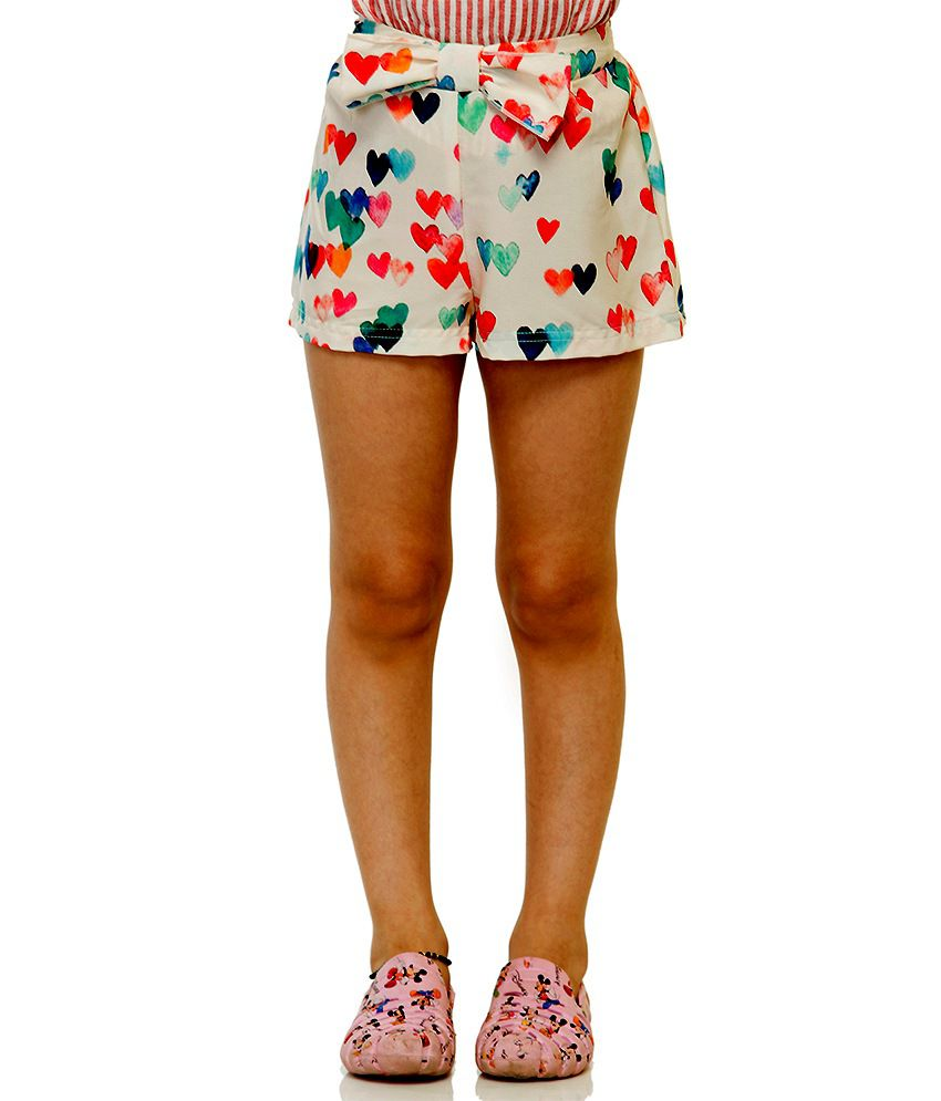 Oxolloxo Synthetic Printed Beautiful Shorts For Girls