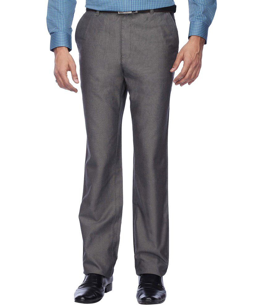 Stop By Shoppers Stop Voguish Gray Formal Trouser