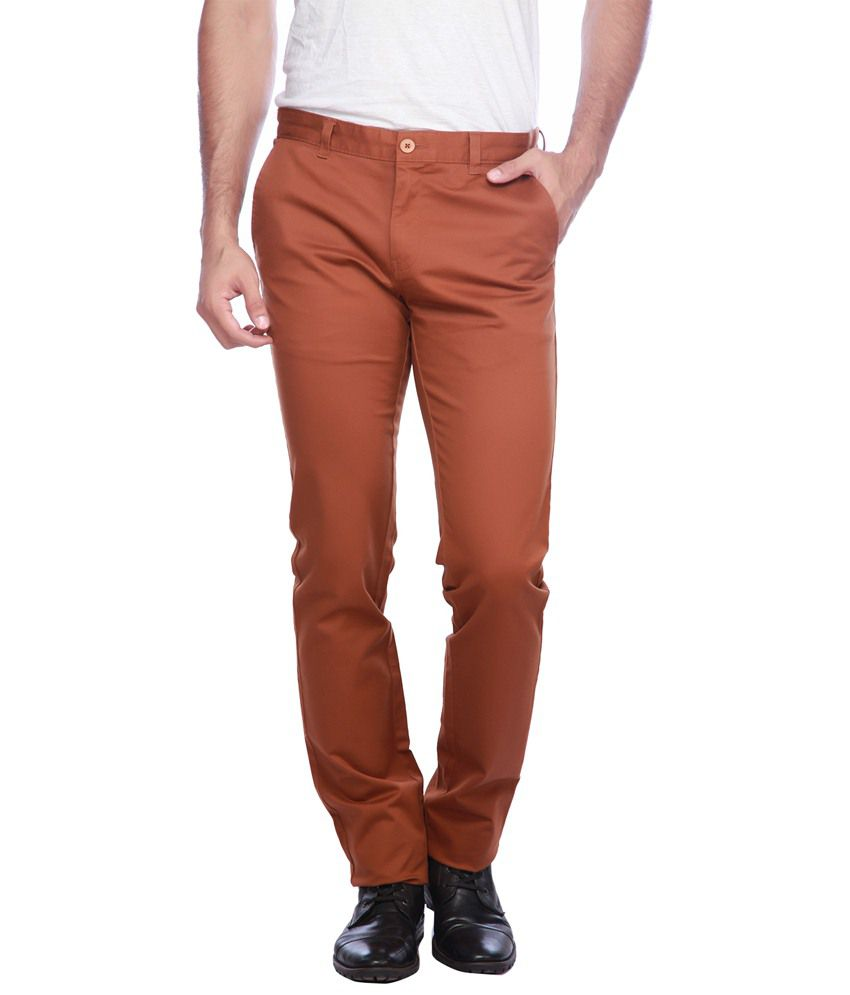 Vettorio Fratini By Shoppers Stop Brown Casual Trouser
