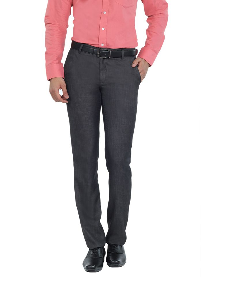 Live In Brown Cotton Slim Fit Casual Chinos