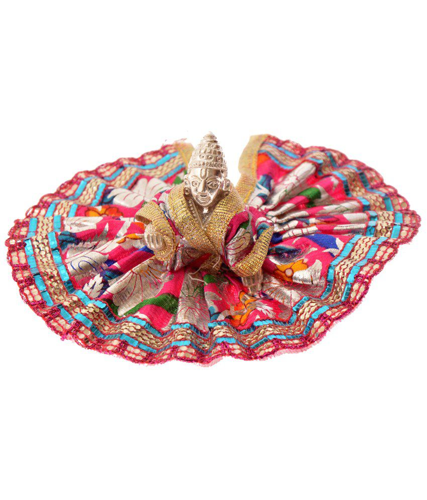 Zakasdeals Pink Embroidered Vastra For Bal Gopal