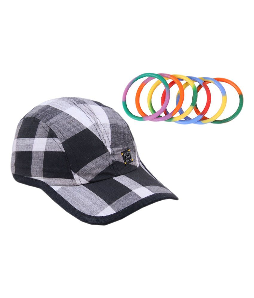 Jstarmart NR Chex Cap With Set Of Wrist Band