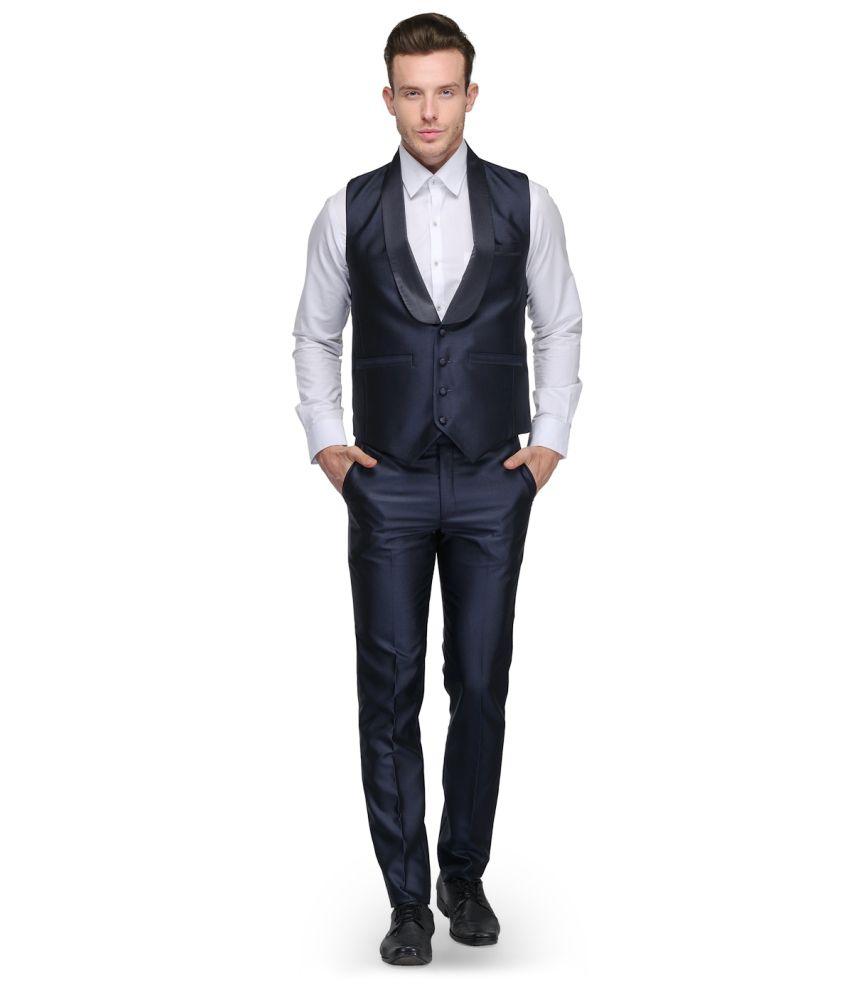 Platinum Studio Blue Rayon Suits