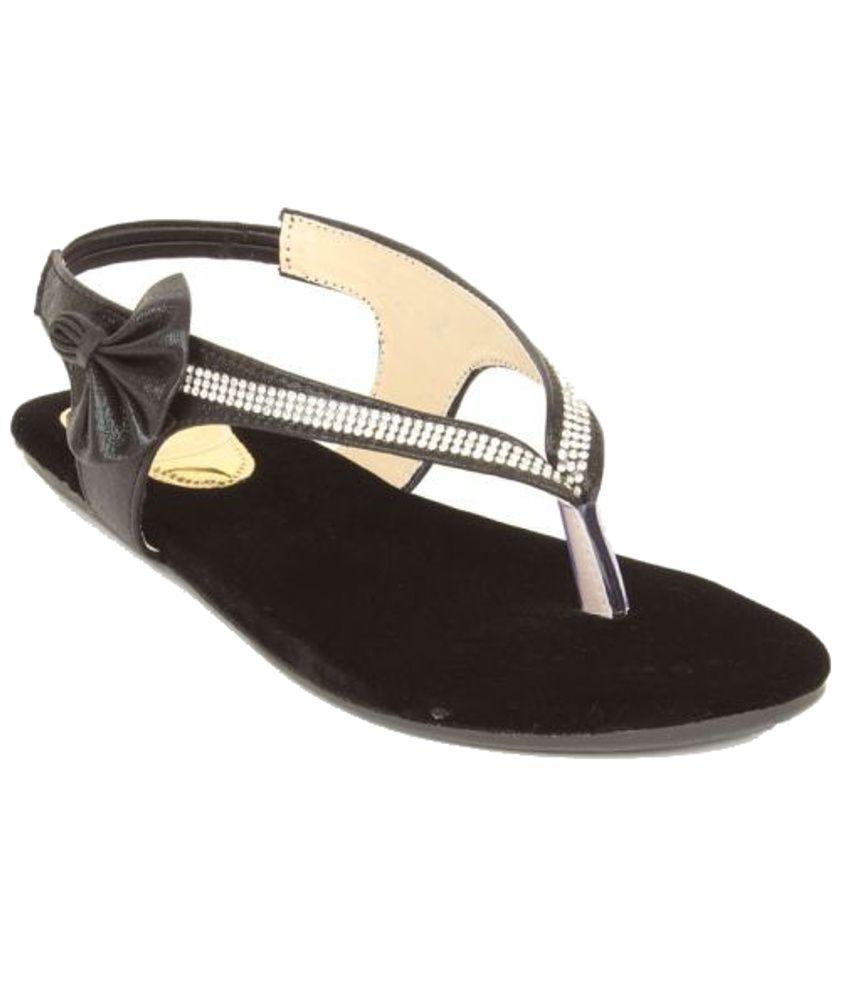 Lovely Chick Trendy Black Sandals