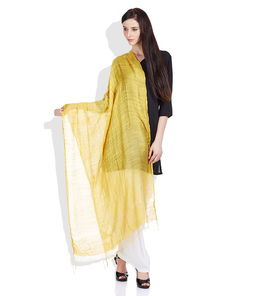bd5209d0b6 W Yellow Viscose Dupattas Price in India - Buy W Yellow Viscose Dupattas  Online at Snapdeal
