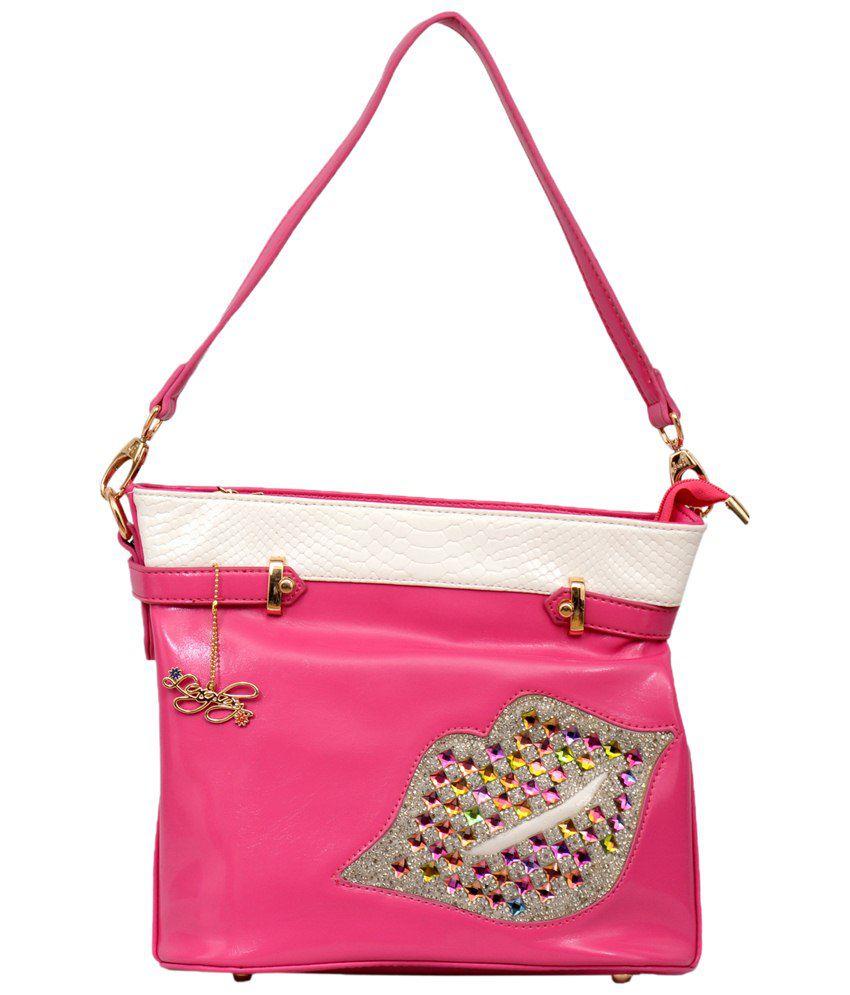 Lengloy L3PNK Pink Shoulder Bags Pink