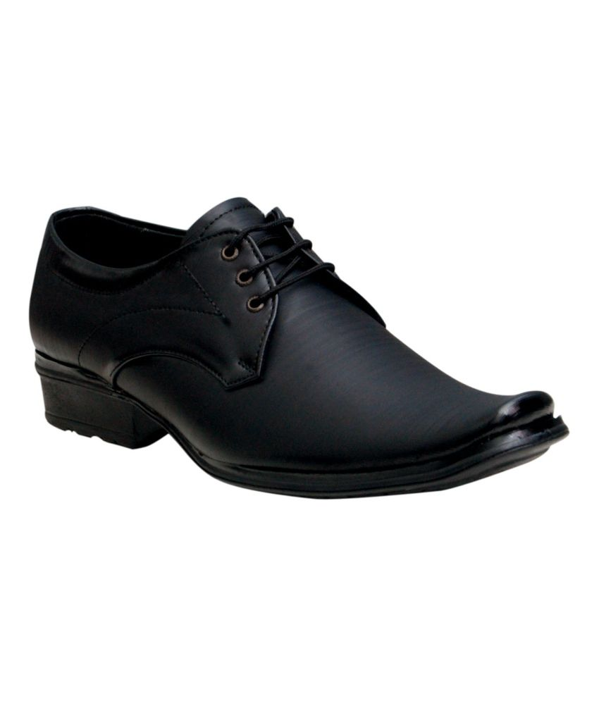 00ra Black Formal Shoes