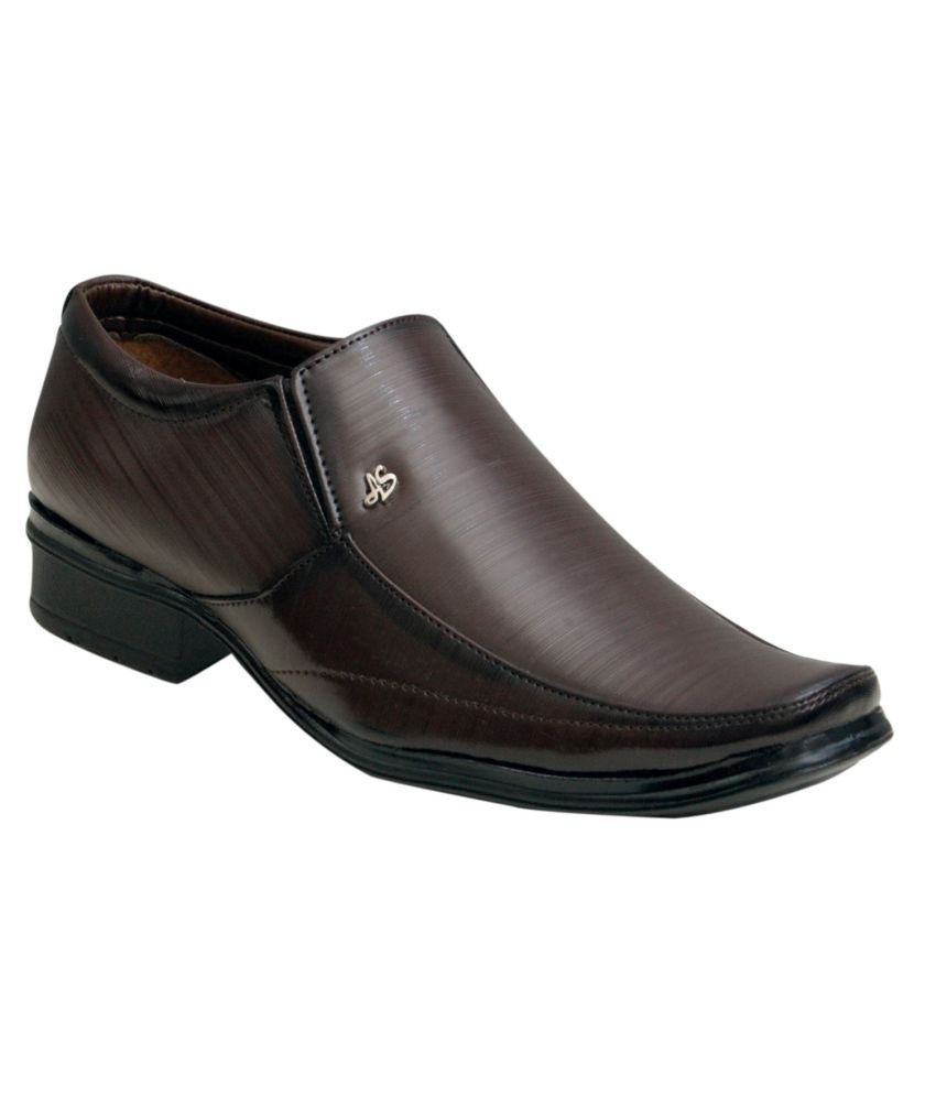 00ra Brown Formal Shoes