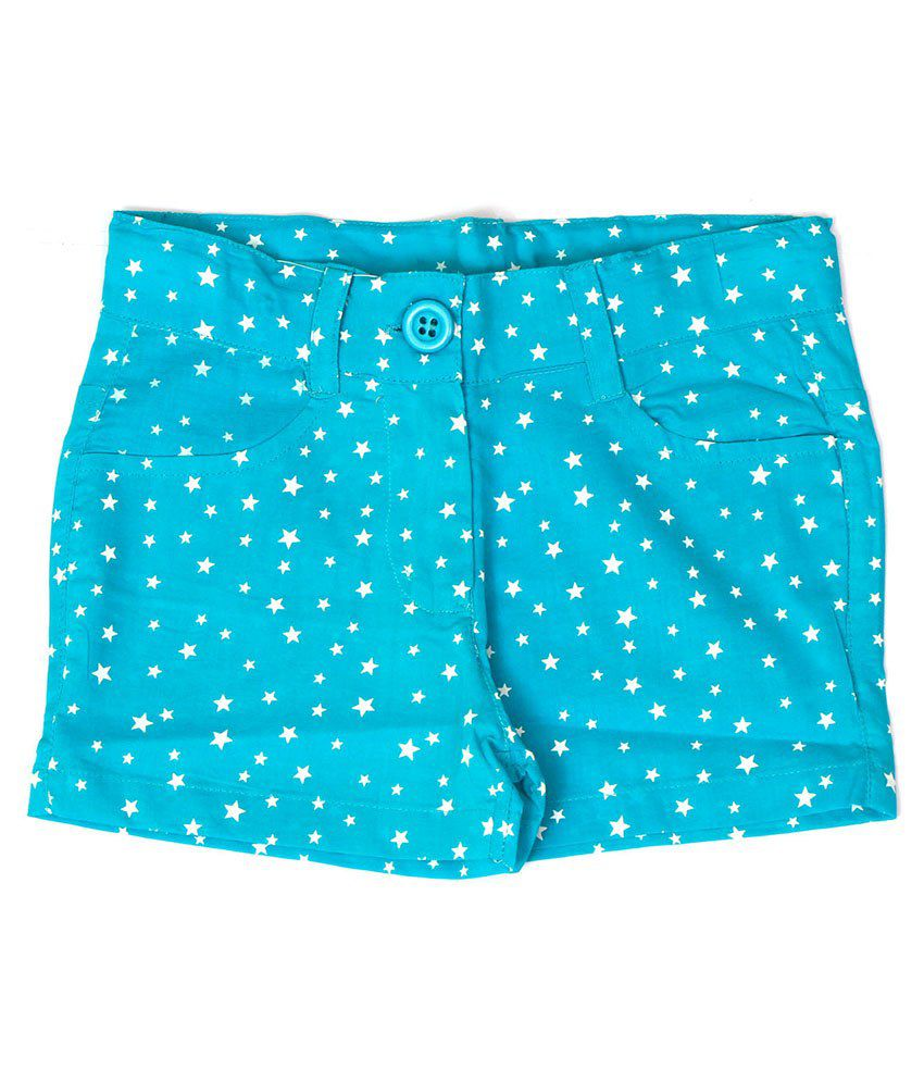 Dreamszone Green & White Printed Shorts For Kids