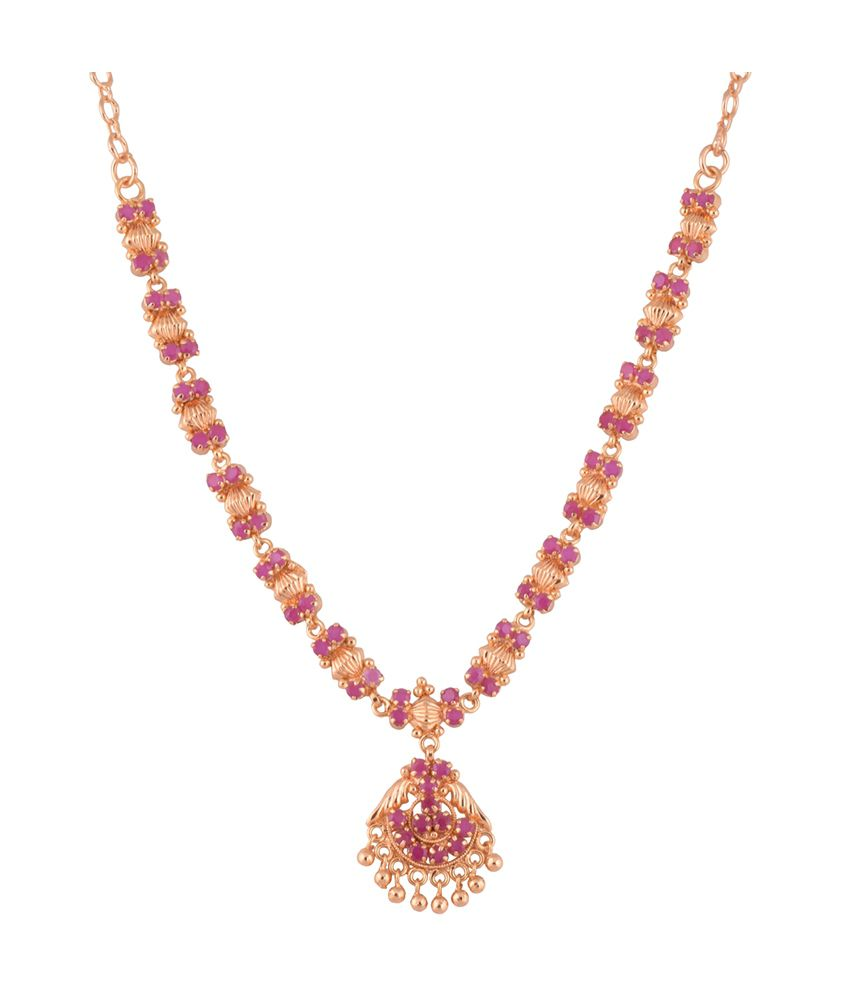 1 gram gold plated south indian kerala design necklace with ruby cz 1 gram gold plated south indian kerala design necklace with ruby cz stones aloadofball Image collections