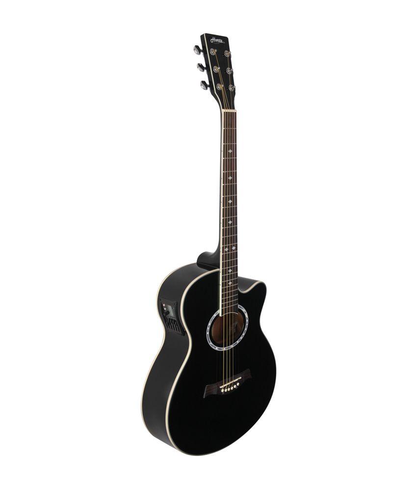 hertz hza 7000 acoustic guitar black buy hertz hza 7000 acoustic guitar black online at. Black Bedroom Furniture Sets. Home Design Ideas