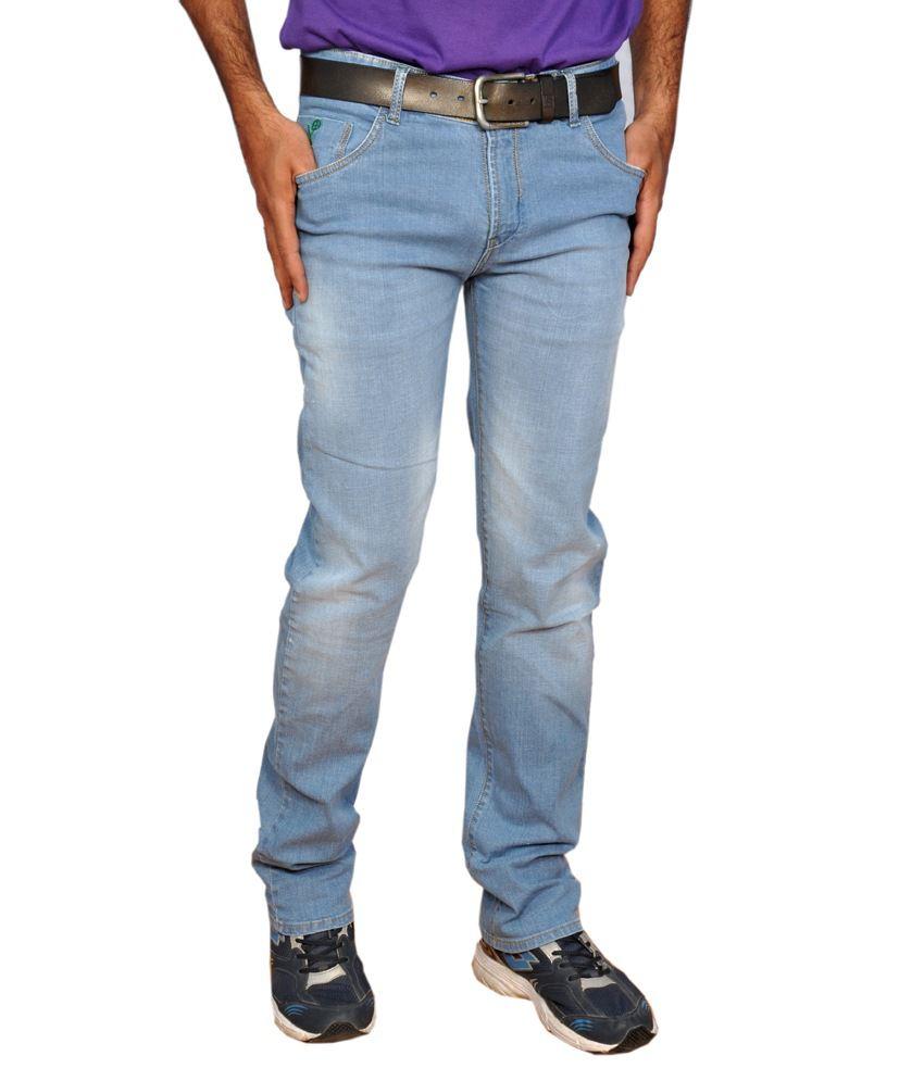 Yunguns Blue Cotton Jeans