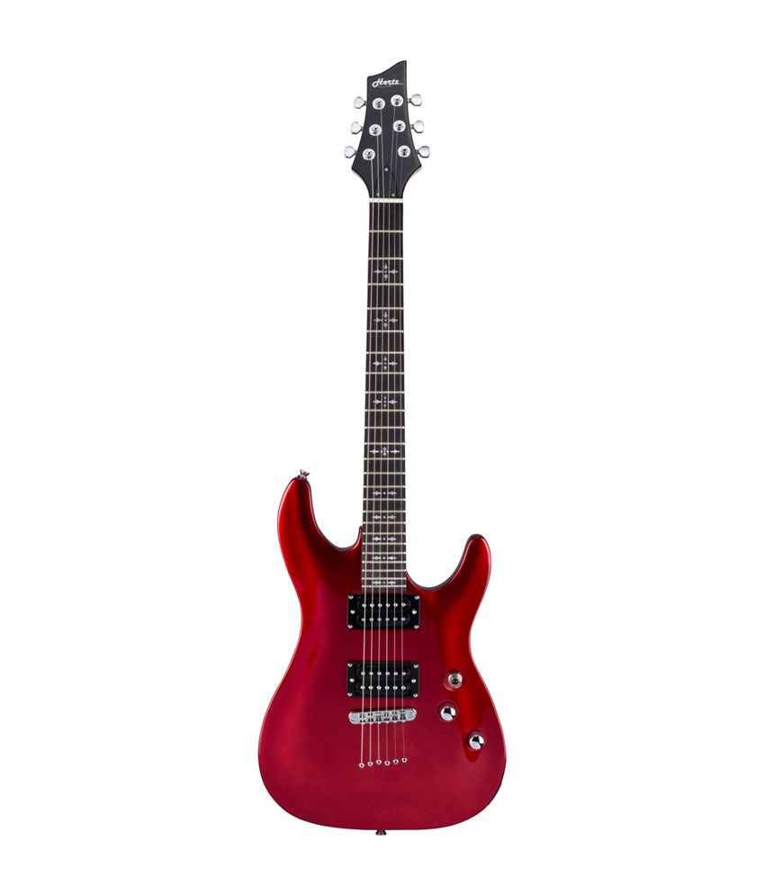 hertz hz j200n electric guitar red buy hertz hz j200n electric guitar red online at best. Black Bedroom Furniture Sets. Home Design Ideas