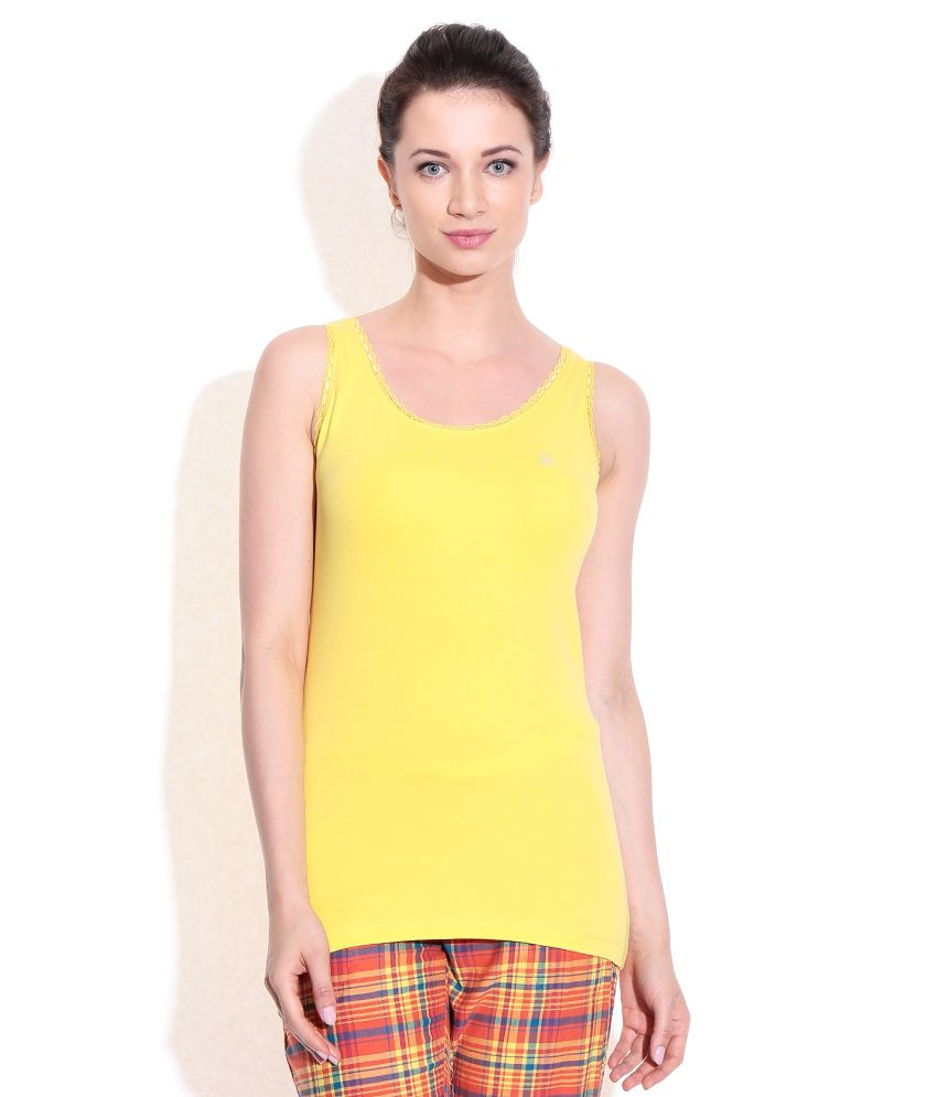 Under Colors of Benetton Yellow Tank Top