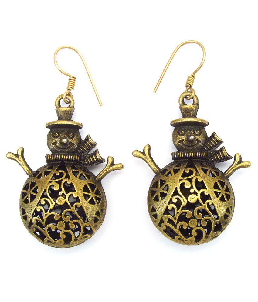 Aksh Gold Alloy Earrings