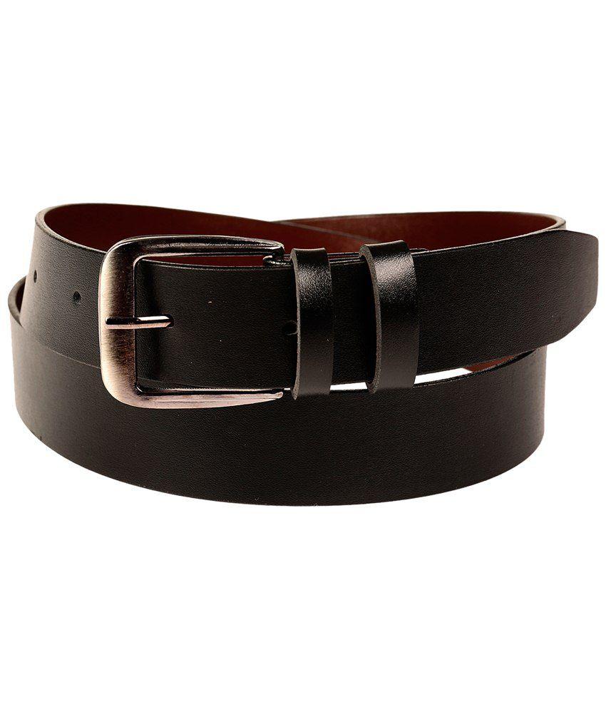 Fedrigo Classic Combo Of Black Belt & Wallet