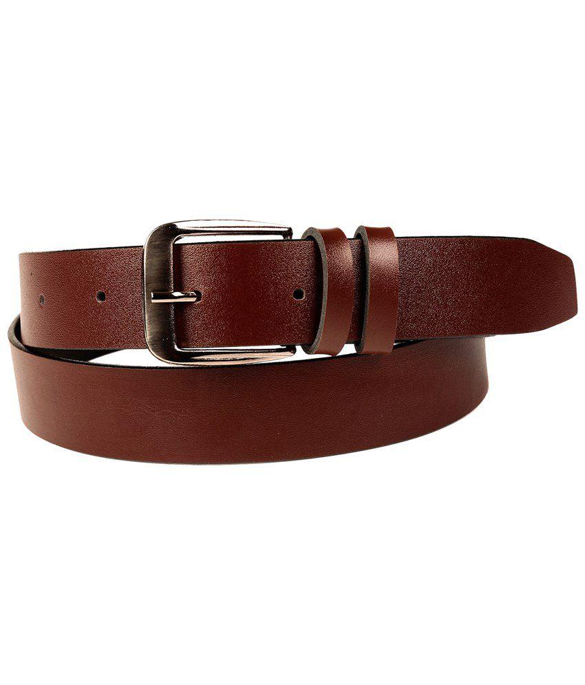 Fedrigo Stylish Combo Of Brown Belt & Wallet
