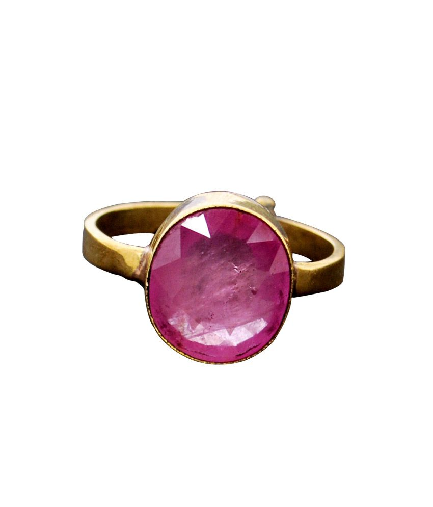 Gem Mines Gold Foil Religious Ruby Ring